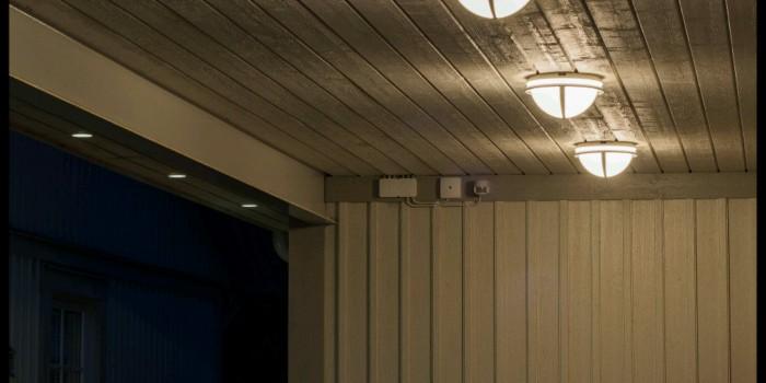 Belysning i carport och takfot