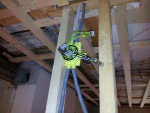 Rör och kabeldragning vid renovering av gammalt hus med nyttjande av ROT-avdrag