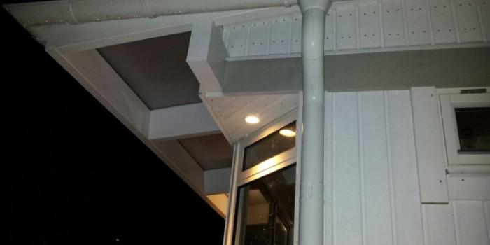 Ledspotlights runt uterum