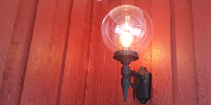 Utomhusbelysning på vägg