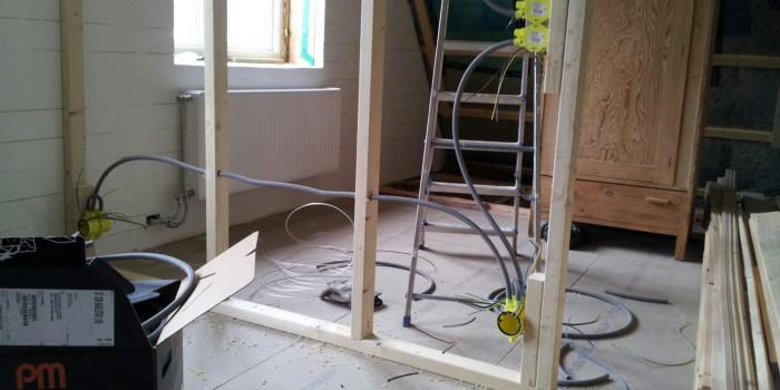 Rör och kabeldragning i ombyggnation