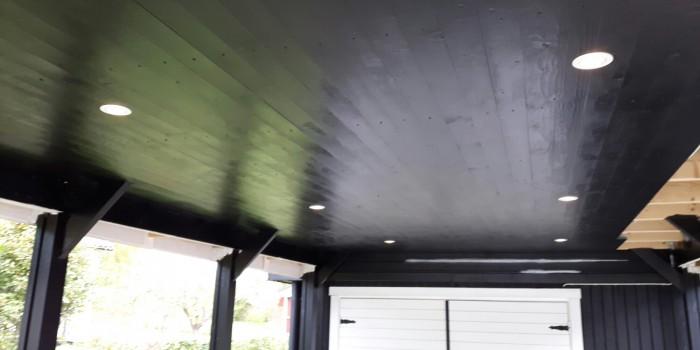 Ledspotlights i carport